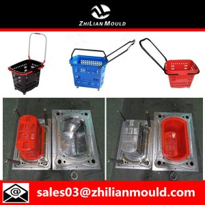 Plastic shopping basket mould maker in china