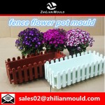fence flower pot mould