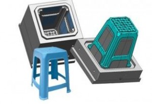 Custom oem plastic injection furniture stool mould
