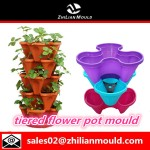 tiered flower pot mould